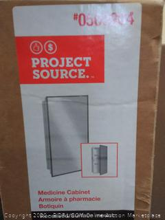 Project Source medicine cabinet (small crack at bottom of mirror)