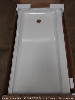 Ensemble 60 x 30 in. Shower Base with Right-Hand Drain, White