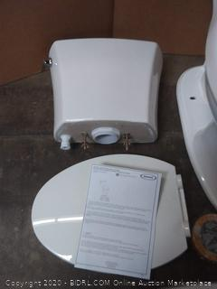 Jacuzzi Lyndsay White WaterSense Elongated Chair Height 2-Piece Toilet 10-in Rough-In Size(Retails $179)