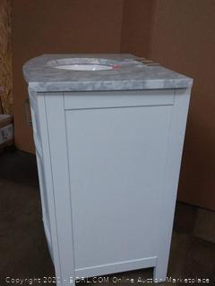 allen + roth vanity with top white finish carrara marble top