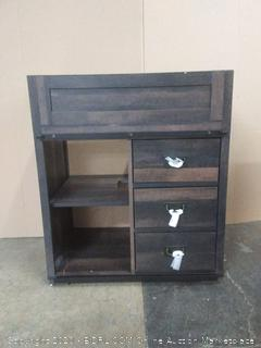 rustic three drawer vanity( top not included)