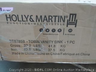 Holly & Martin Tobin vanity sink