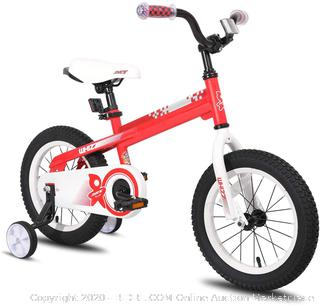 JOYSTAR 16 Inch Kids Bike with Training Wheels for 4 5 6 Years Old Boys, Toddler Cycle for Early Rider, Child Pedal Bike, Red (online $132)