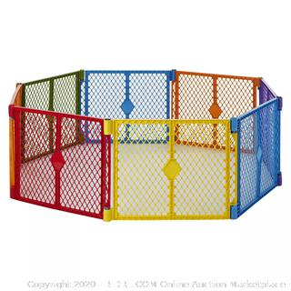 Toddleroo by North States Superyard Colorplay 8 Panel Baby Play Yard (online $88)