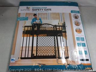 """Modern Home Decorative Walk-Thru Baby Gate, Metal with Bronze Finish, Decorative Arched Doorway – 30"""" Tall, Fits Openings up to 28"""" to 42"""" Wide (online $59)"""