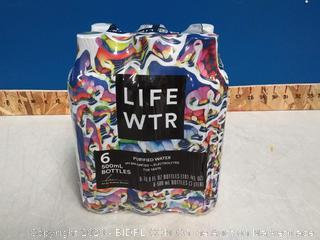 LIFEWTR Purified Water 6 Pack Bottles
