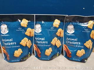 Gerber Animal Crackers For Toddlers Cinnamon Graham 3pck