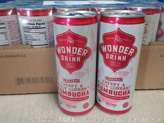 Kombucha Wonder Drink Organic Sparkling Fermented Tea Cherry 24pck
