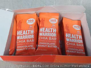 Health Warrior Chia Bars, Chocolate Peanut Butter, 15 Count