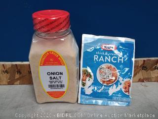 Kraft Ranch and onion salt bundle