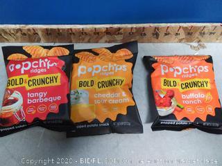 Popchips Ridges Potato Chips Variety Pack 24ct