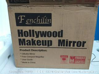 """FENCHILIN Large Vanity Mirror with Lights, 19.68""""x 15.74"""" Hollywood Lighted 12 bulb(powers on) online $104"""