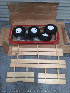 "Radio Flyer 36"" All-Terrain Steel & Wood Wagon (online $149)"