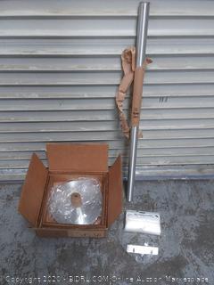 Glaro FVB11SA-UB100 Floor Standing Wet Umbrella Bag Holder - Satin Aluminum Finish - 100 Bags Included (online $224)