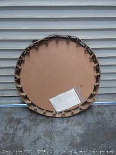"The Better Bevel Round Frameless Wall Mirror 24"" x 24"" (online $56)"