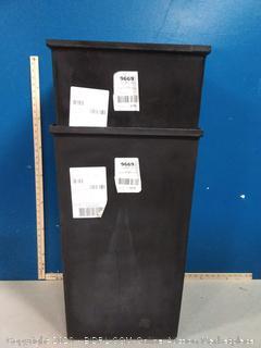 Safco Products Plastic Liner Black (online $83 each) 2 stuck together