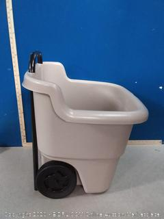 Suncast 2-Wheel Resin Multi-Purpose Cart with Handle - 15.5 Gallon Cart (online $48)
