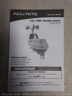 AcuRite 01540M 5-in-1 Weather Station with Wi-Fi Connection to Weather Underground (online $124)