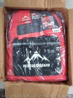 Rescue Guard First Aid Kit Hurricane Disaster or Earthquake Emergency Survival Bug Out Bag Supplies for Families - 72 Hours of Disaster Preparedness Supplies (online $169)