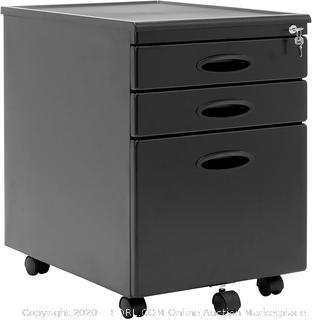 Calico Designs Metal Full Extension, Locking, 3-Drawer Mobile File Cabinet (online $112)