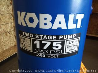 Kobalt 60-Gallon Two Stage Electric Vertical Air Compressor 75 max PSI 240-volt 3.7 horsepower(needs power cord)(New)(Retails $589)