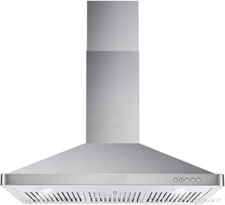 Cosmo 63190 36-in Wall-Mount Range Hood 760-CFM Ducted / Ductless Convertible Duct , Kitchen Chimney-Style Over Stove Vent LED Light , 3 Speed Exhaust Fan , Permanent Filter ( Stainless Steel ) (manufacturer sealed)(Retails $204)