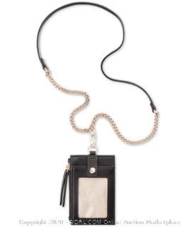 INC Hazell ID Card Case Lanyard-Black (MSRP- $30)