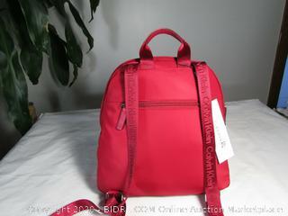 Calvin Klein Belfast Backpack Nylon Vegan Red Bag- (MSRP-$158)