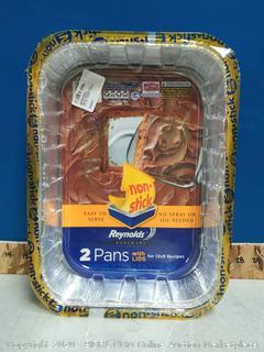 Reynolds disposable aluminum cake pan 2pck(no lids)
