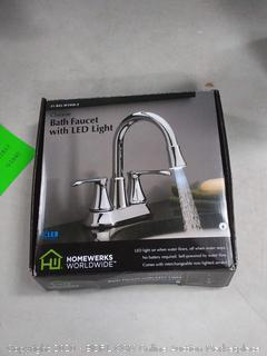 bath faucet with LED light