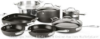All-Clad H911SA64 Essentials Nonstick Cookware set, 10 Piece, Grey(Retails $339)