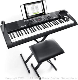 Alexis Melody 61 keyboard stand and seat includes headphones and microphone( Powers on)(Retails $119)