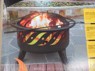 """Landmann Patio Lights Fire Pits with 12.5"""" Firebowl, 1"""" Diameter Safety Ring/Handle, Spark Screen and Steel Construction in Black Finish (Factory sealed)(Retails $256)"""