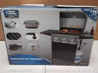 Blue Rhino Black and Silver/Porcelain and Stainless Steel 3-Burner (dented front)(Retails $199)