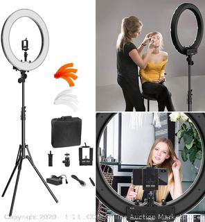 "Ring Light Kit:18"" 48cm Outer 55W 5500K Dimmable LED Ring Light(Retails $104)"