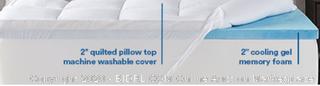 Sleep Innovations Memory Foam 4-inch Dual Layer Mattress Topper King (Online $134)