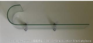 JOZEFINA ATELIER Clear with Silver Brackets Trend Shelf