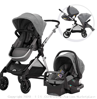 Evenflo Pivot Xpand Modular Travel System, Baby Stroller, Up to 22 Configurations, Extra-Large Storage, Single-to-Double Stroller, Durable Construction, Compact Folding Design, Stallion Black (Online $399)