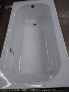 Briggs pendant Plus 60 by 30 by 16 bathtub partial unfinished(outside)