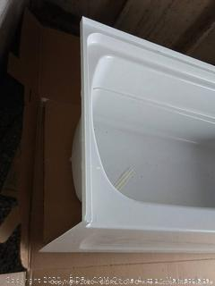 Sterling left drain 60 by 32 bathtub(outside)
