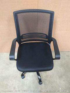 Mid black mesh office chair with armrest (Chair K)