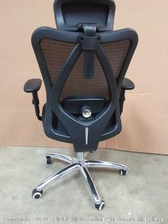 Sihoo Ergonomics Office Chair Computer Chair Desk Chair, Adjustable Headrests Chair Backrest and Armrest's Mesh Chair (Black)(Chair G)