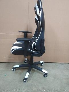 storm racer gaming chair black and white