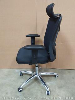 Sihoo Ergonomics Office Chair Computer Chair Desk Chair, Adjustable Headrests Chair Backrest and Armrest's Mesh Chair (Black)(Chair G)