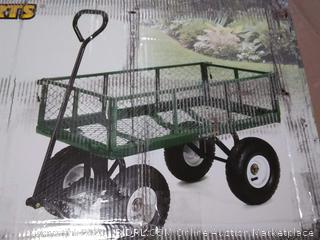 Gorilla Carts GOR400-COM Steel Garden Cart with Removable Sides, 400-lbs. Capacity, Green (online $99)