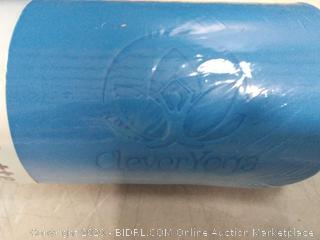 clever yoga blue yoga mat (online $39)