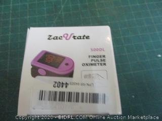 Zac Urate Finger Pulse Oximeter