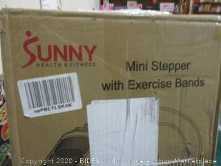 Sunny Mini stepper with Exercise Bands