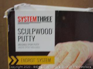 System three Sculpwood putty