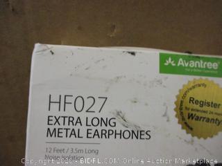 Extra Long Metal Earphones